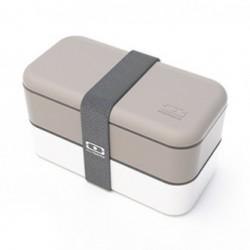 BENTO LUNCH BOX 1L Szaro-białe