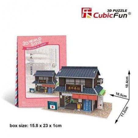 Puzzle 3D Domki świata Japonia Confectionery Shop
