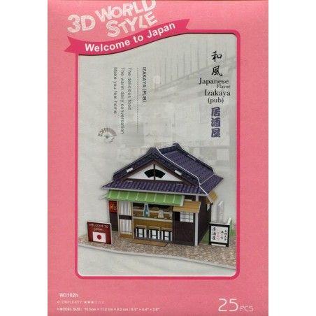 Puzzle 3D Domki świata Japonia Izakaya