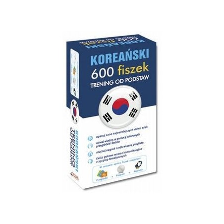 KOREAŃSKI 600 FISZEK TRENING OD PODSTAW+CD