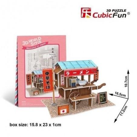 Puzzle 3D Domki świata Japonia Ramen Cart